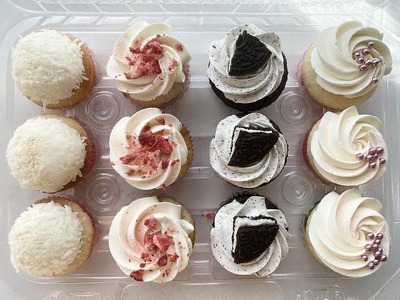 Box of 1 Dozen Cupcakes: Mother's Day Assortment