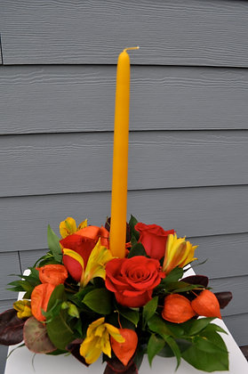 October Candle Centerpiece