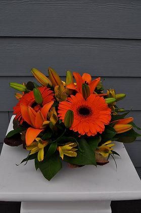 Orange Mixed Centerpiece