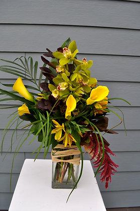 Yellow & Green Tropical Fall Arrangement