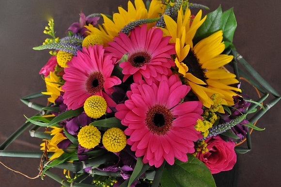 Pink & Yellow Mixed Bouquet