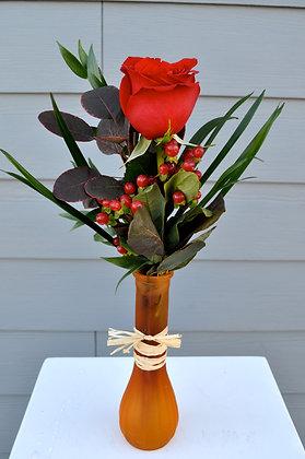 Fall Single Rose Vase