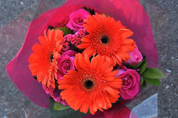 Hot Pink & Orange Bouquet