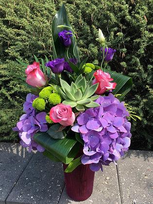 Pink & Purple Succulent Arrangement