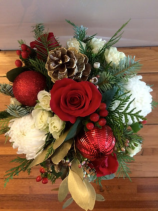 Traditional Round Christmas Centrepieces- Choose your own size & value