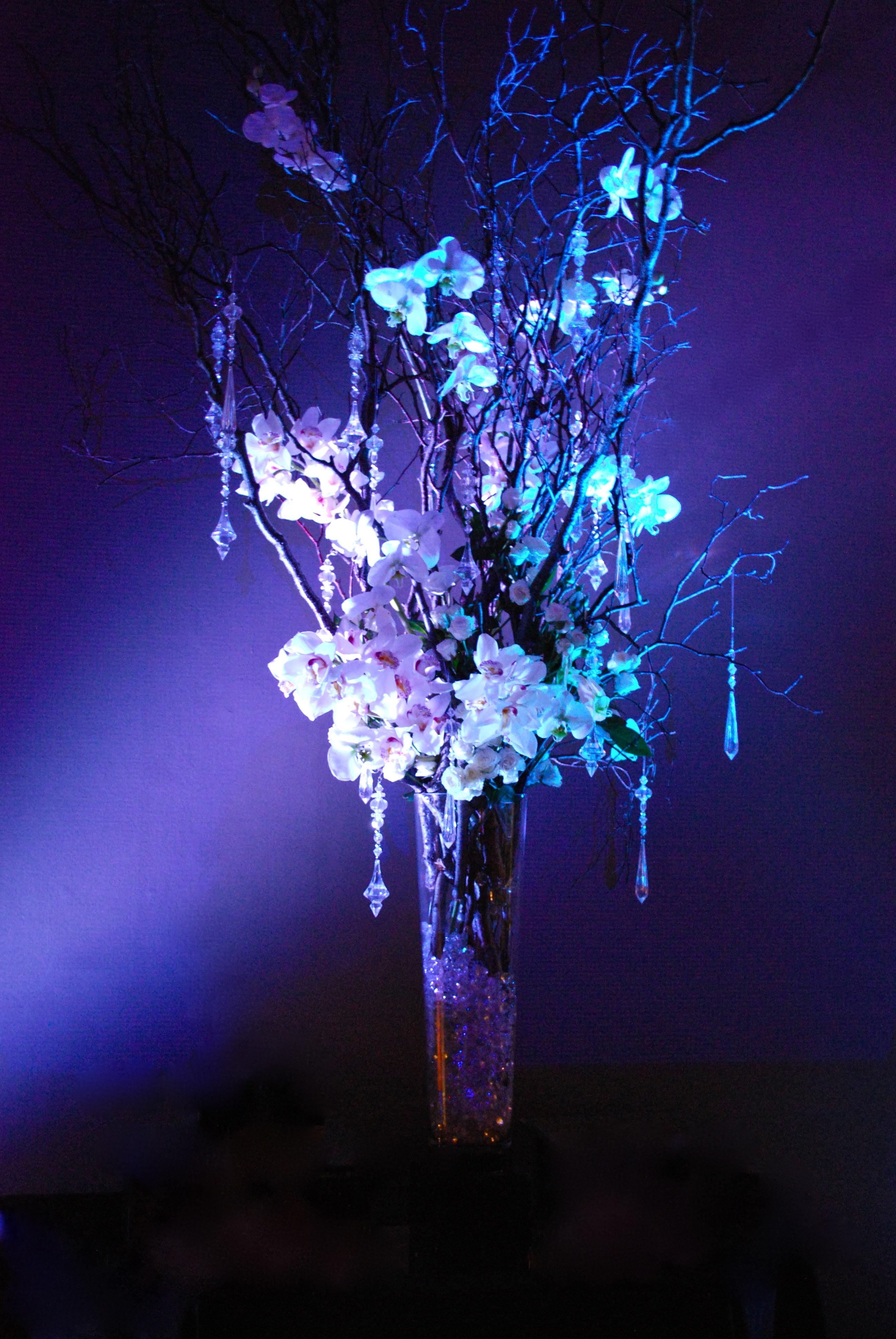 White Orchid & Diamond Arrangement