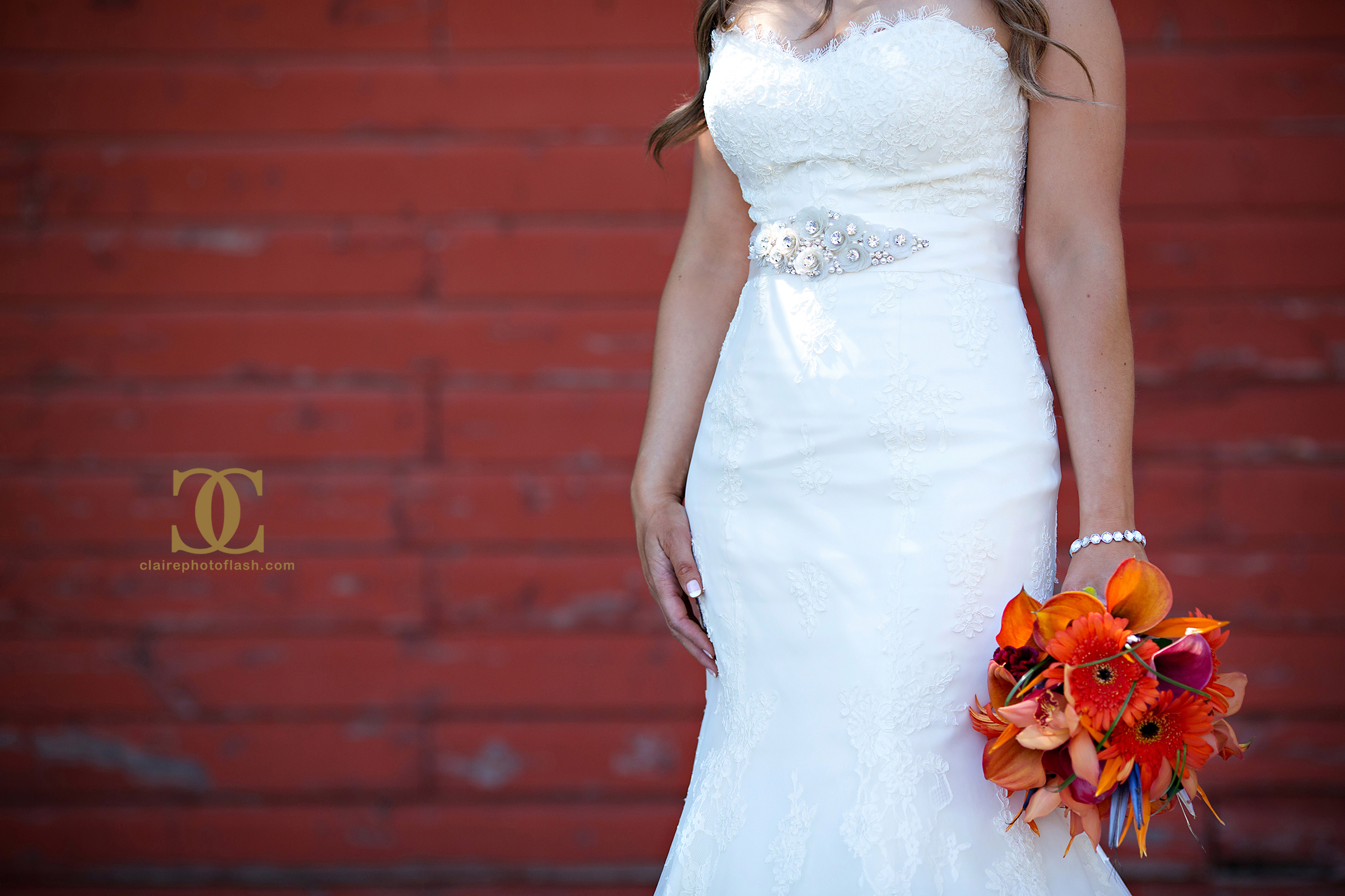 Orange Tropical Wedding 12