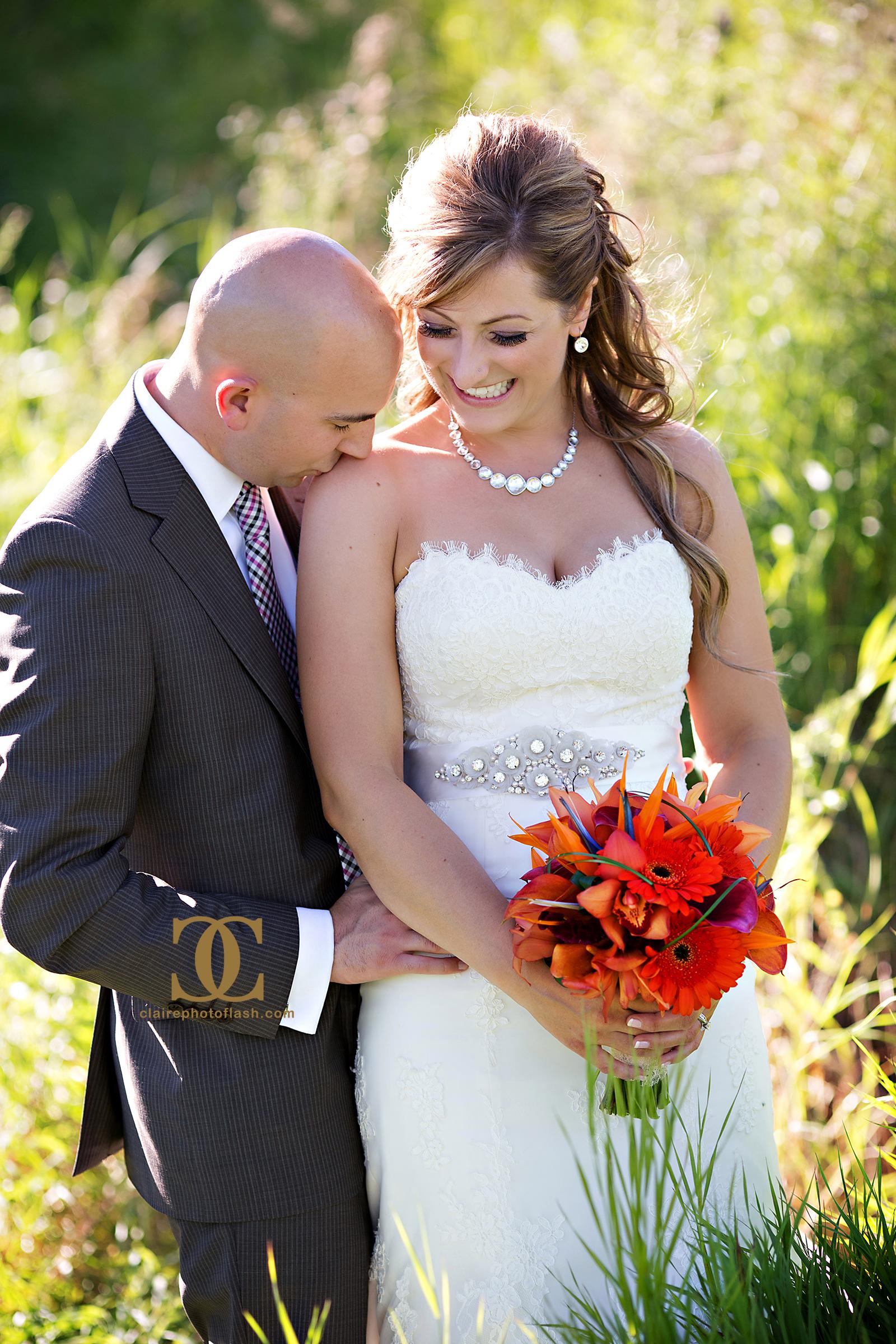 Orange Tropical Wedding 1