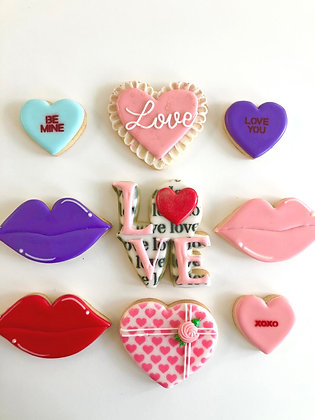 Valentine's Cookies- By Gold Box Bakery. Packaged individually.