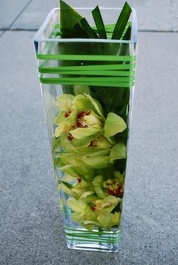 Green Orchid Reception Vase