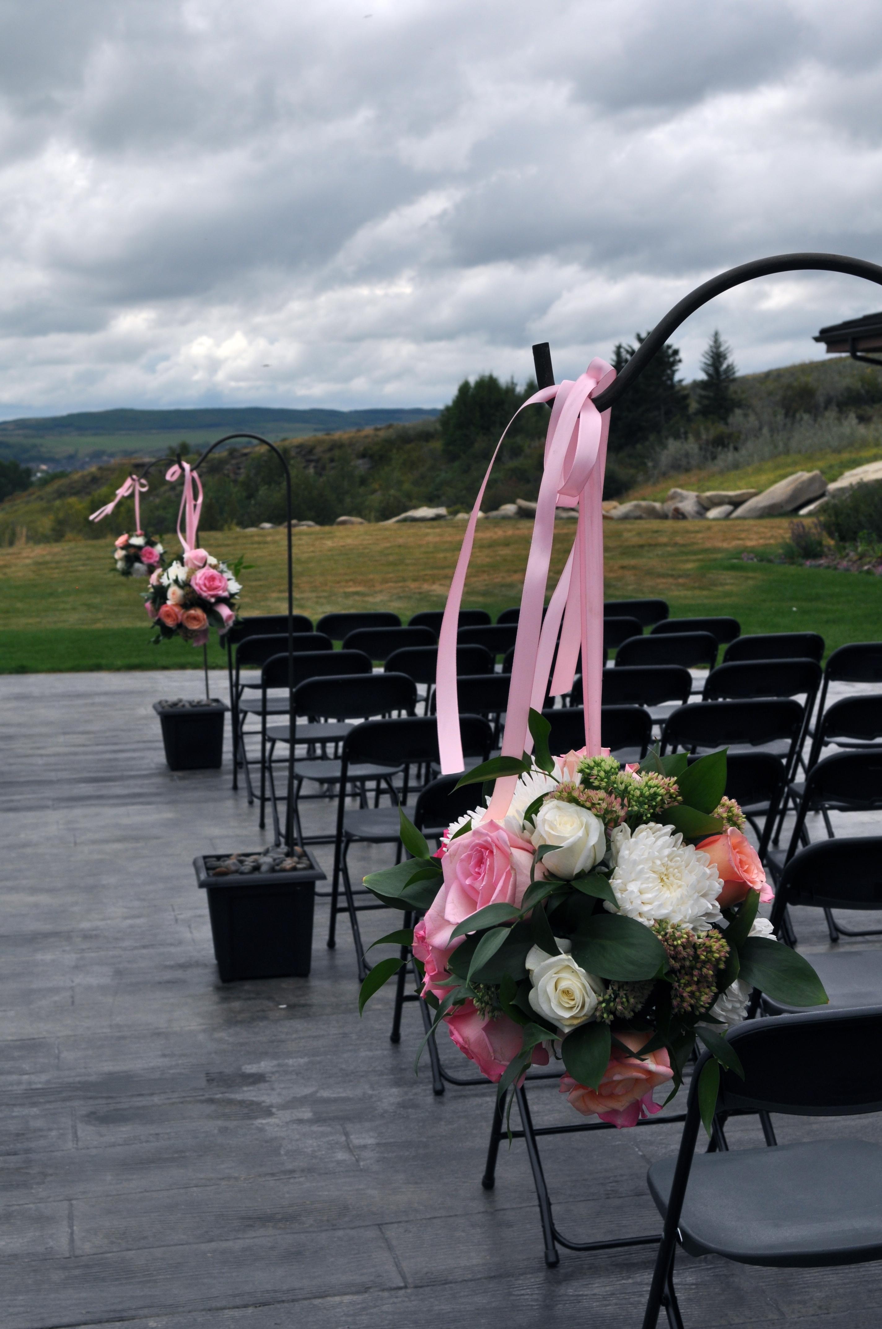 Pink & White Hanging Pomanders