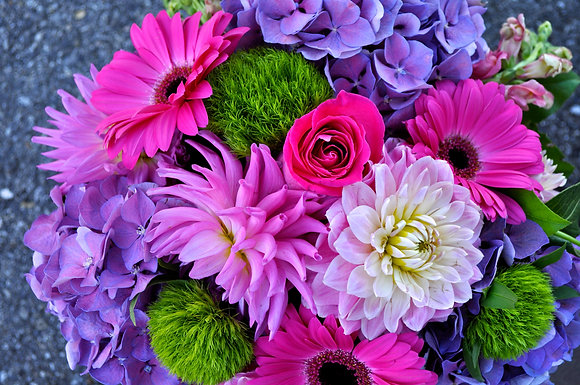 Purple & Pink Seasonal Mixed Bouquet