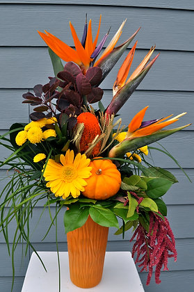 Tropical Fall Harvest Arrangement
