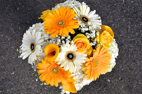 Yellow & White Diamond Bouquet