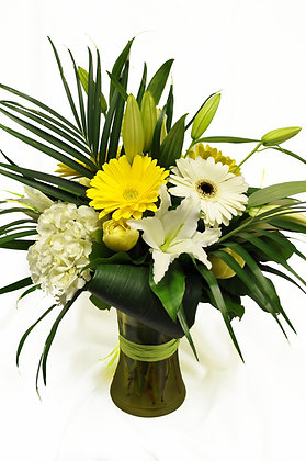 Soft Yellow & White Arrangement