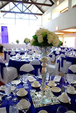Tall Hydrangea Bowl Centerpieces