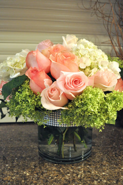 Baby Pink Rose Centerpiece
