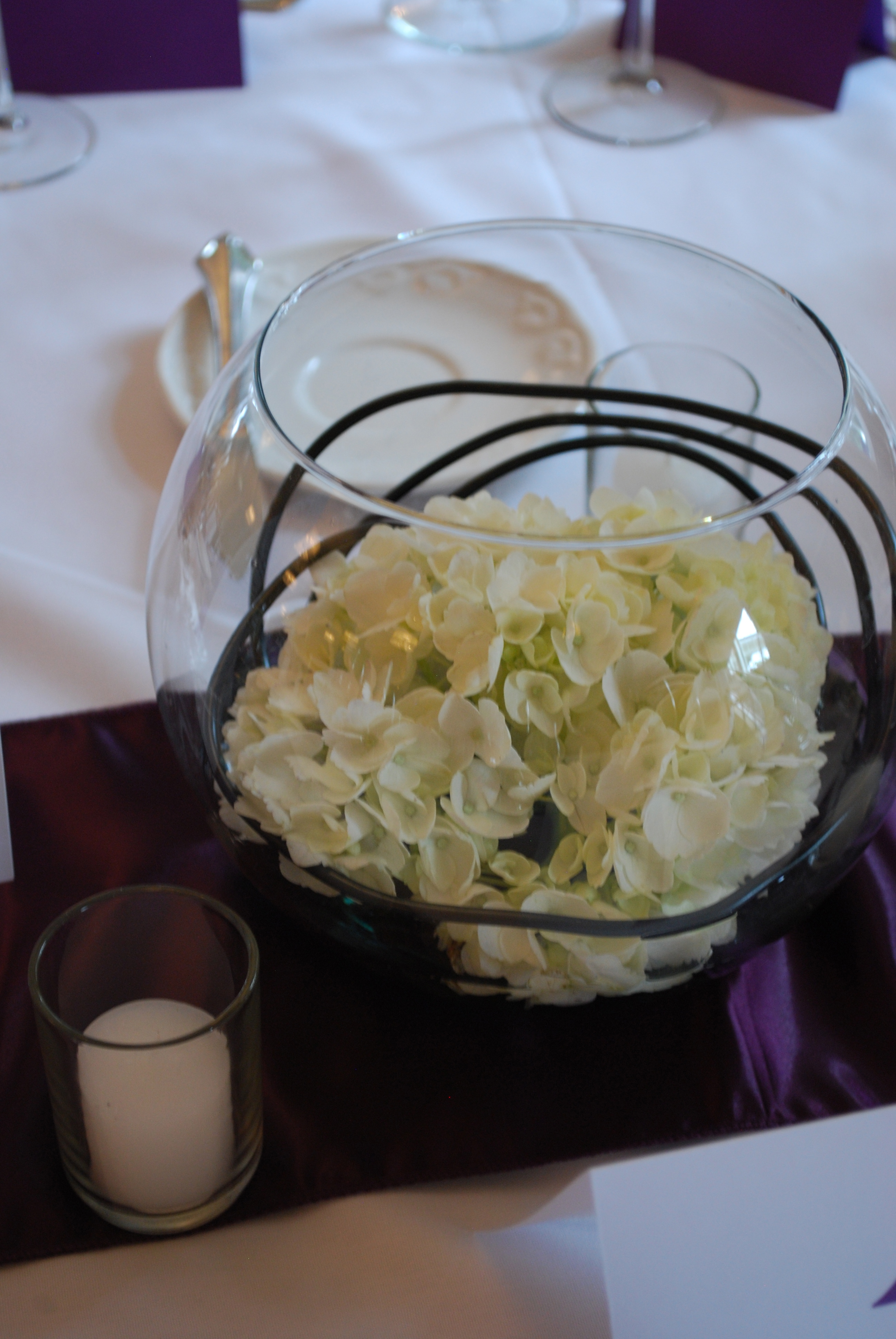 Hydrangea Bowl Centerpiece 2