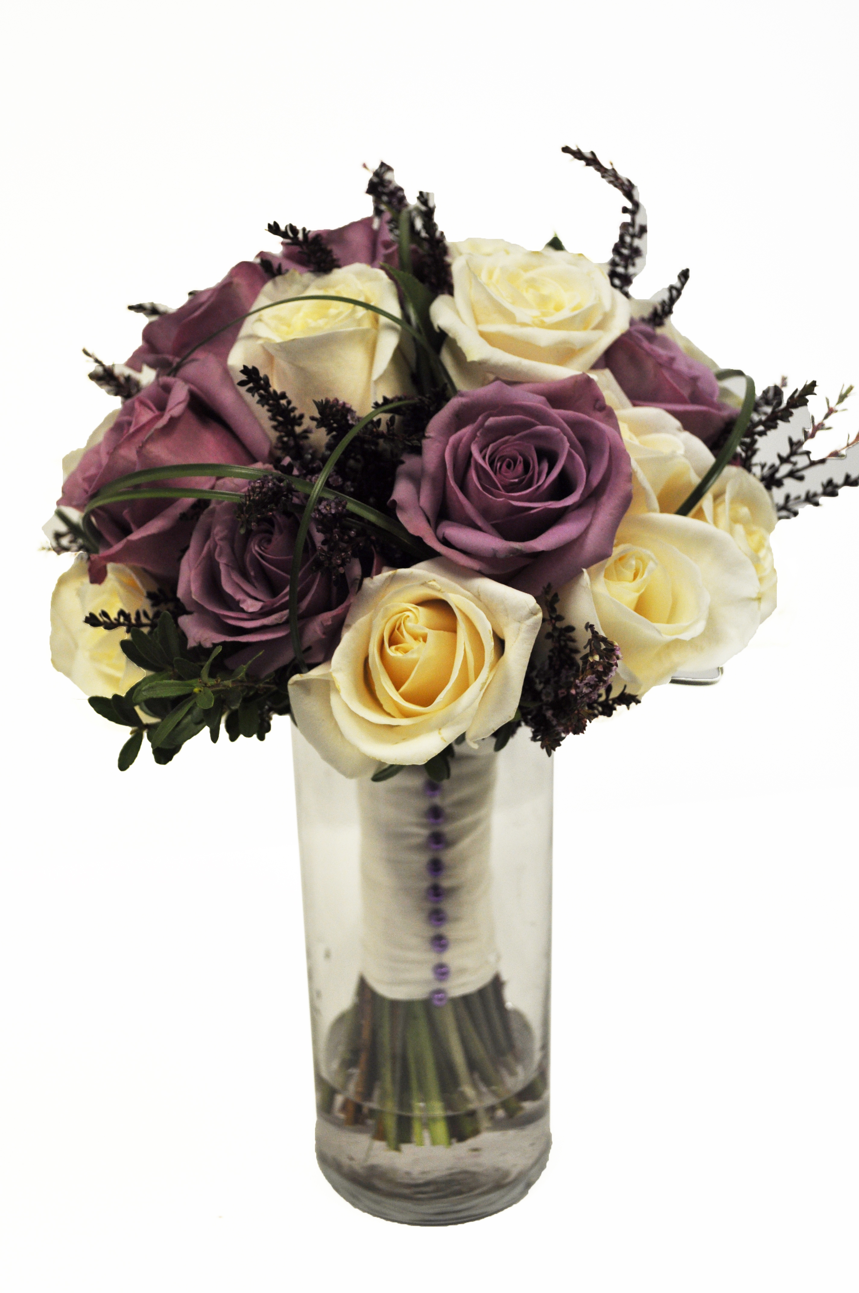 Purple and white Roses