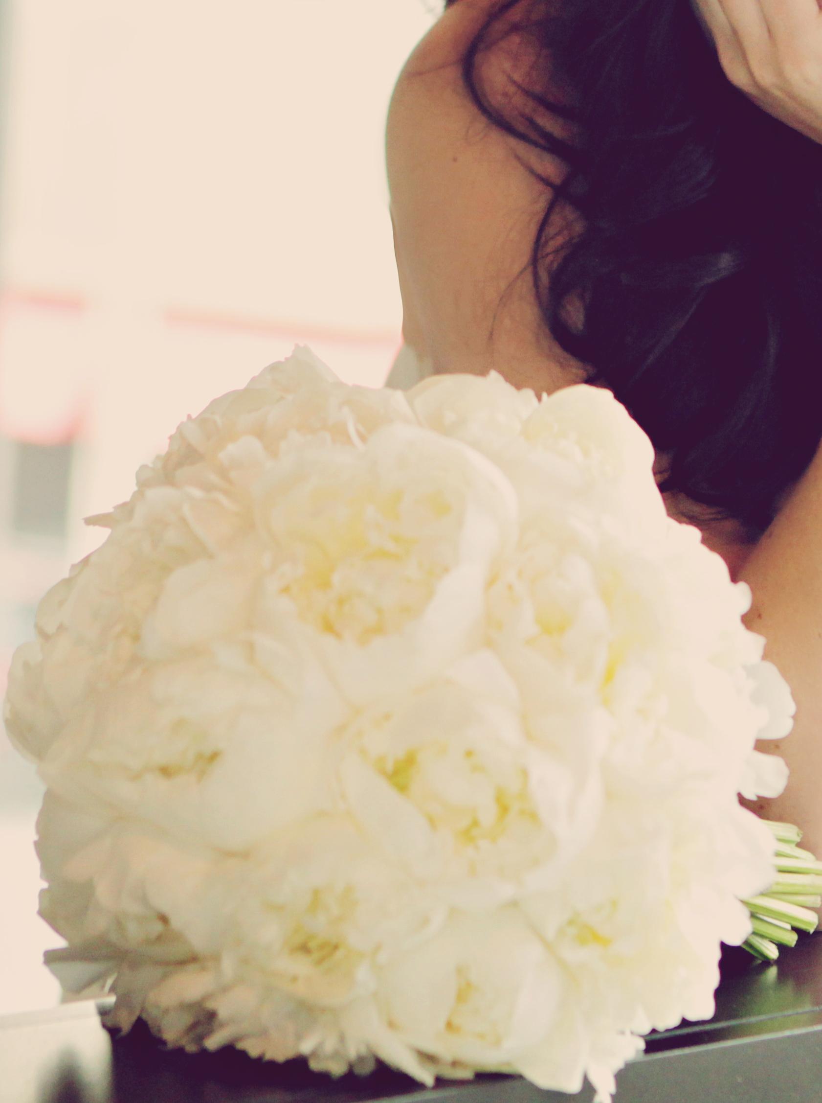 White Peony Bridal Boquet - 2