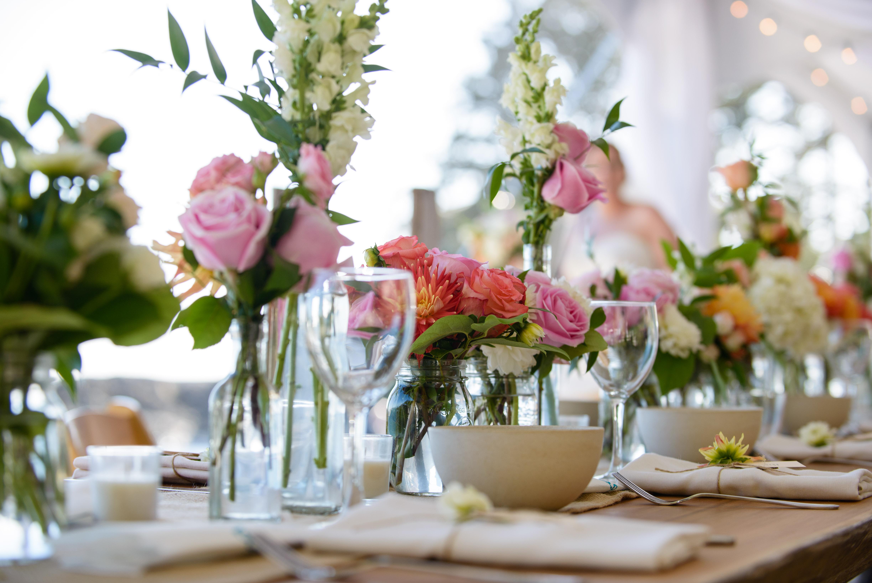 Pink Centerpiece Flowers