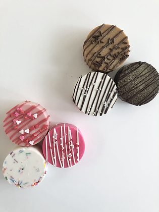 Valentine's Chocolate Covered Oreos- By Gold Box Bakery. Pack of 3.