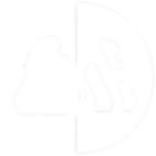 White & Clear Circle Gorilla Logo - No B