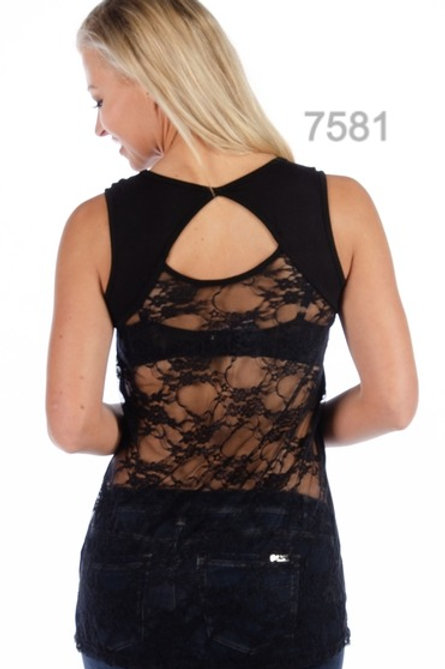 LACE BACK TOPS
