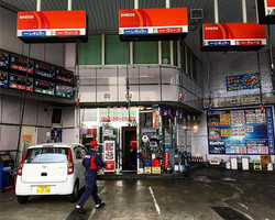 Should petrol pumps hang from the ceiling