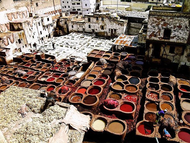 This is the oldest leather tannery in the world (Fez, Maroc, March 2009)