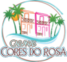 cabanas cores do rosa-circulo e sem fund