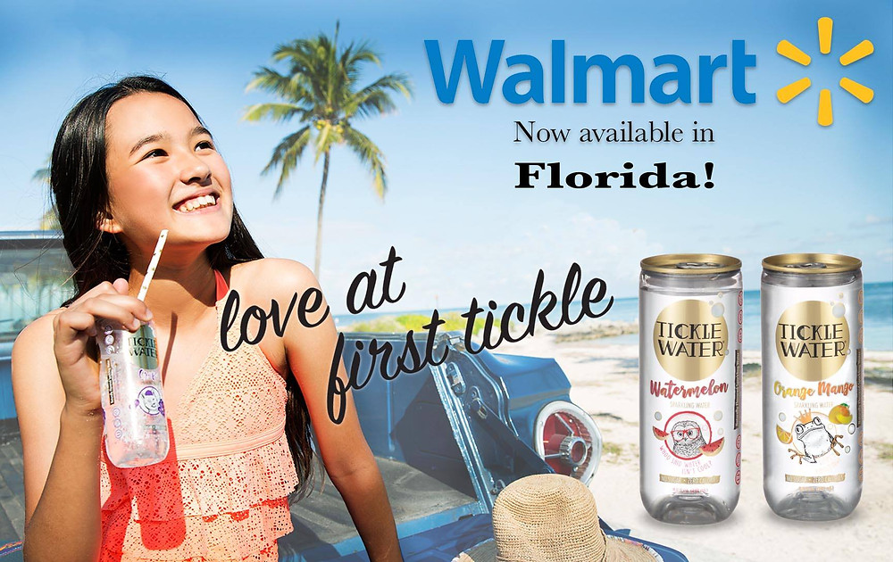SAS-managed brand, TICKLE WATER, is now on-shelf in over 100 Florida Walmarts