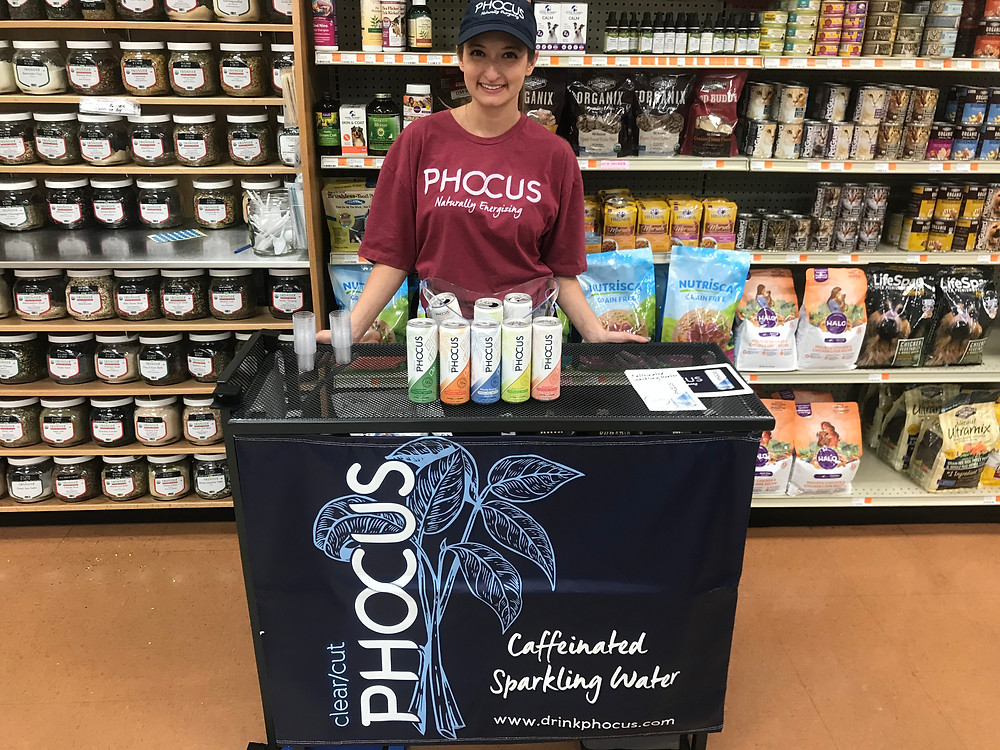 SAS Sales and Marketing Demo Team with Phocus naturally energizing sparkling water