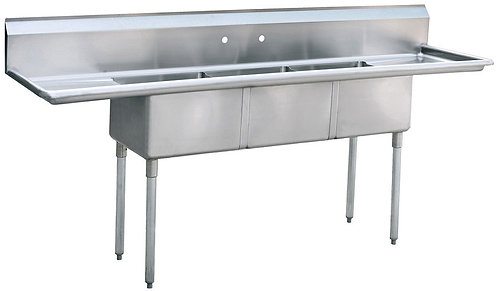 Atosa Mx Rice  MRSA-3-D   3 compartment  Stainless Steel Sink