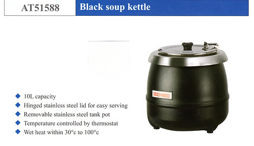 ATOSA Black Soup Kettel AT51588