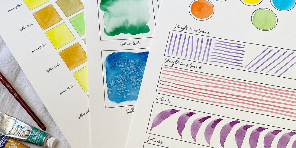 VIRTUAL Intro to Watercolor Basics Workshop
