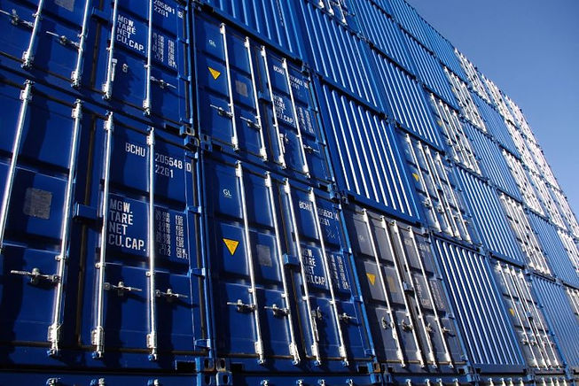 iso 668 Container Stapel