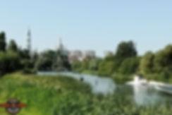 Тамбов. Река Цна. Вид с набережной