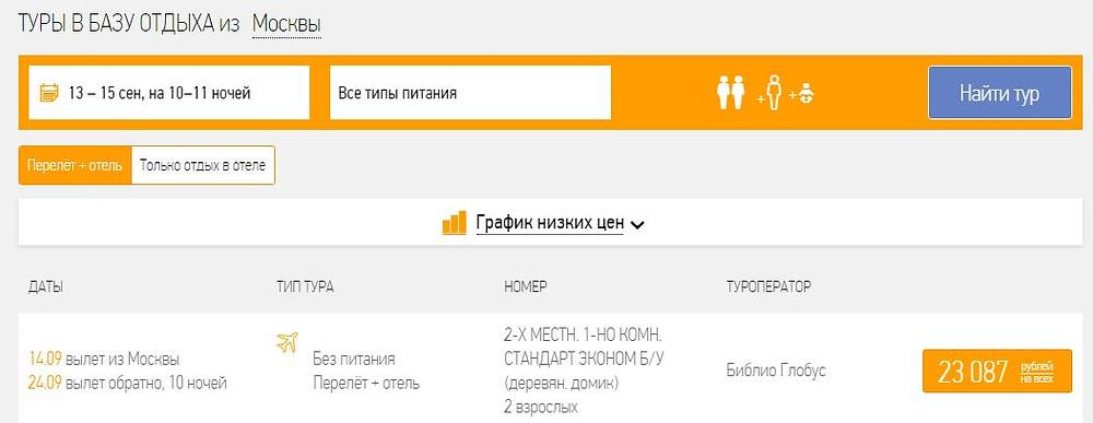 Купить тур в Крым дешево