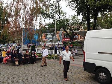Трабзон. Квартал Ататюрк Аланы (Atatürk Alanı) со сквером Мейдан Паркы (Meydan Parkı).