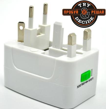 Универсальный адаптер питания под любые типы электрических розеток
