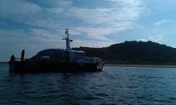 Transport til Hjelm ø
