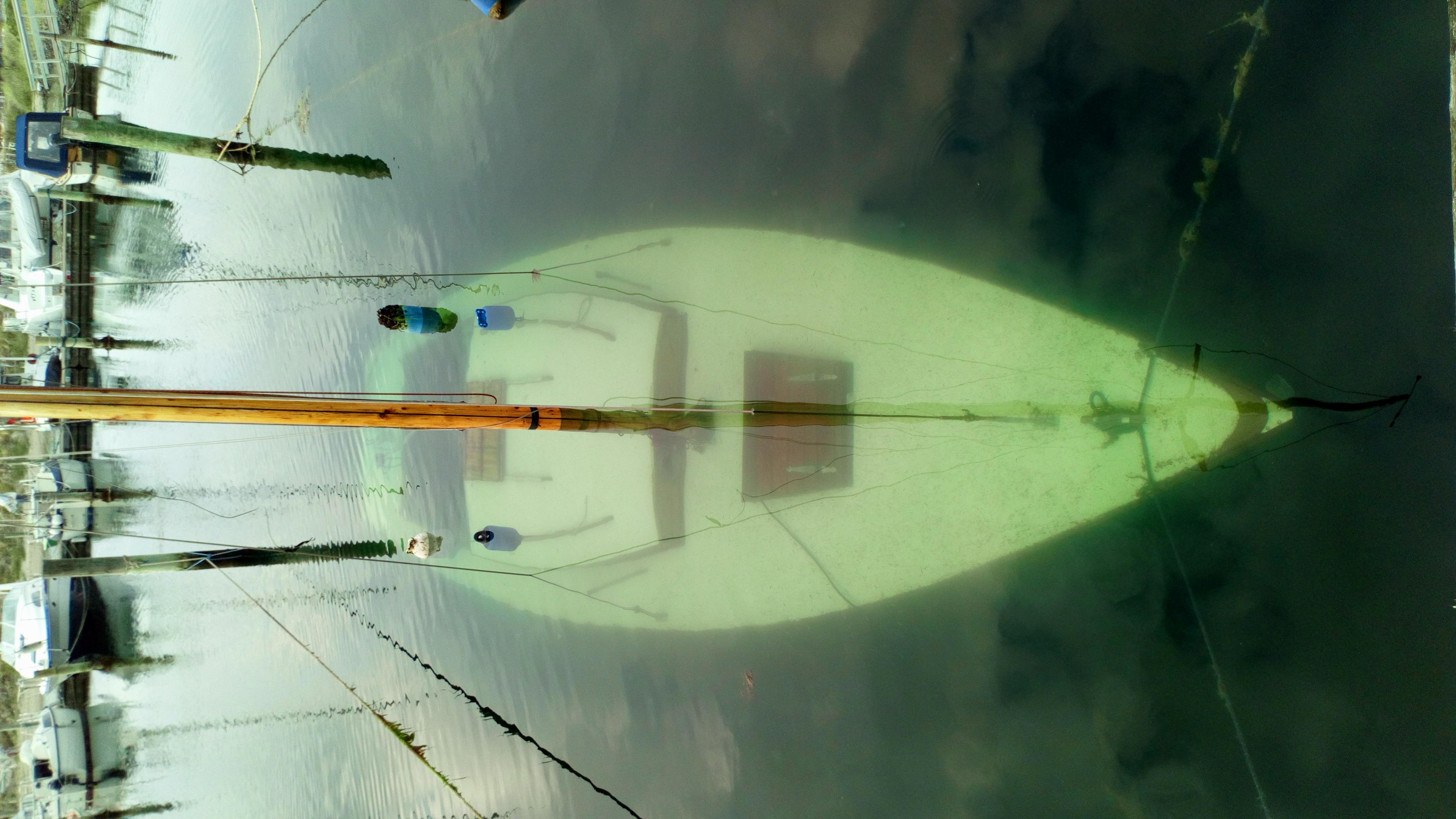 sunket sejlbåd