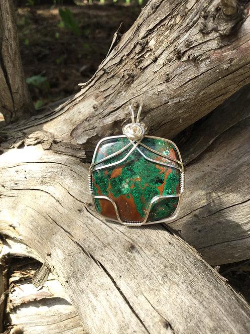 Copper Malachite Pendant