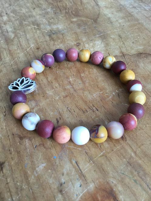 Mookaite Lotus Bracelet