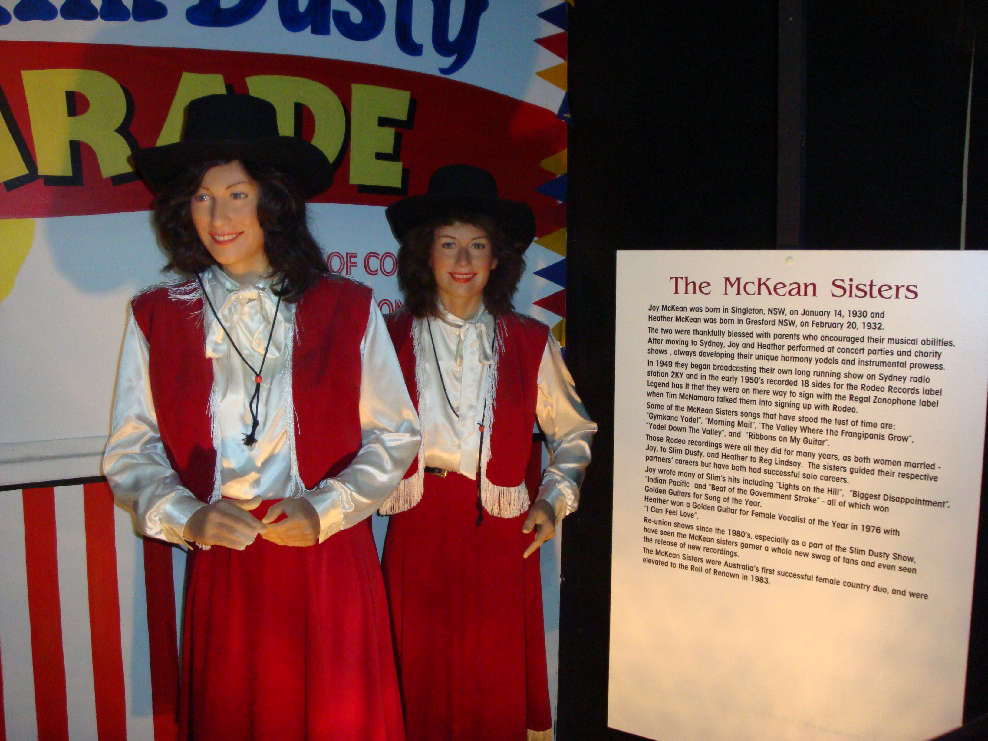 The McKee Sisters display at the Country Music Wax Museum