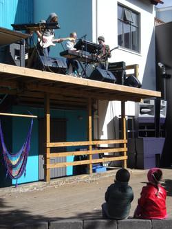 Live outdoor performance, Reykjavik