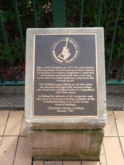 Winners Walkway plaque