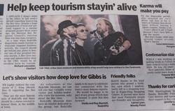 'Help keep tourism stayin' alive'