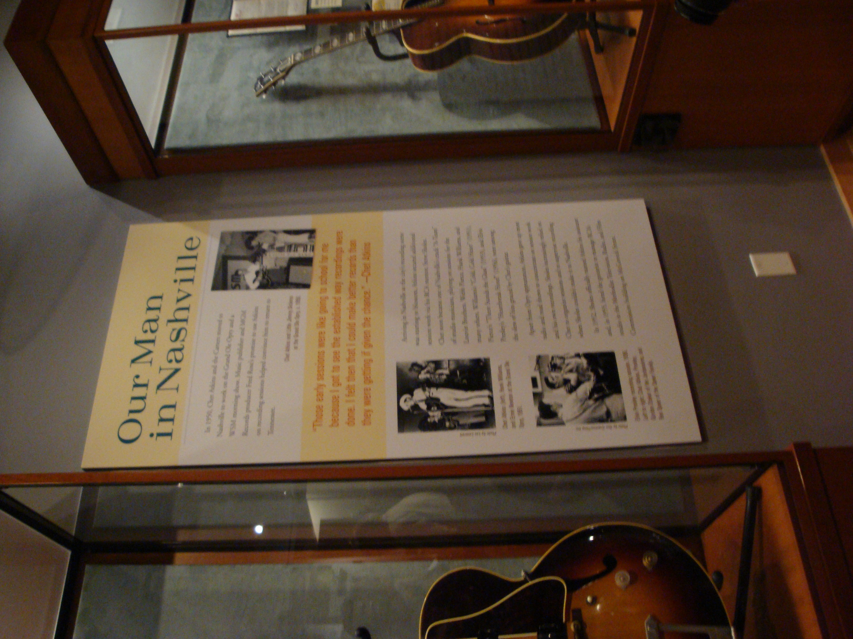 Chet Atkins exhibition at the Country Music Hall of Fame and Museum